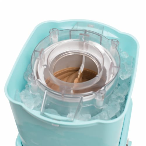Nostalgia Electric Ice Cream Maker with Candy Crusher - Aqua Perspective: right