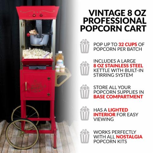 Nostalgia Vintage Professional Popcorn Cart Perspective: right