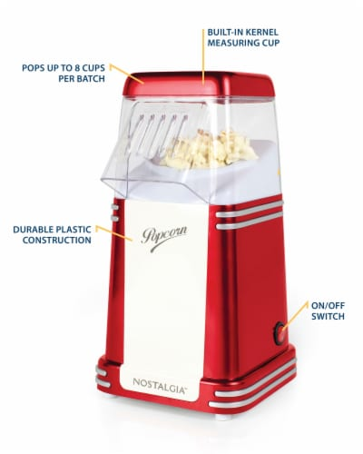Nostalgia Electrics Retro Hot Air Popcorn Maker - Red Perspective: right