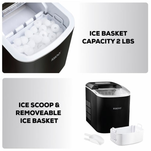 Igloo Automatic Portable Countertop Ice Maker - Black Perspective: right