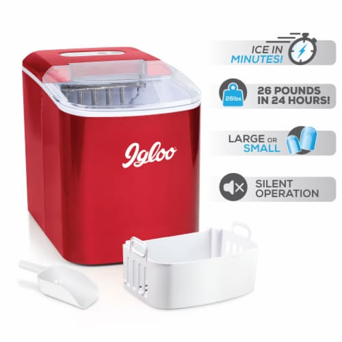 Igloo Automatic Portable Countertop Ice Maker - Retro Red Perspective: right