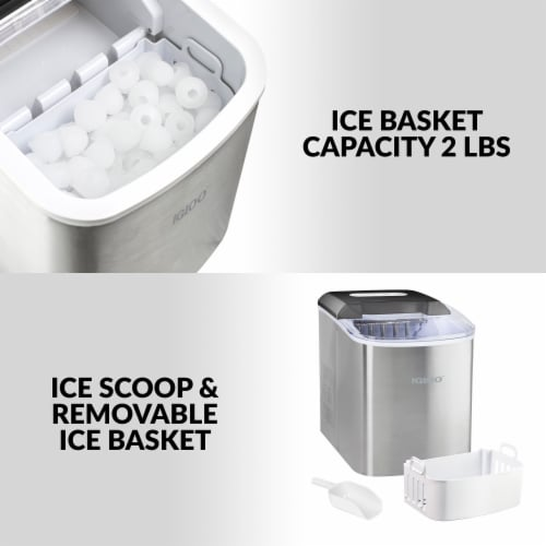 Igloo Automatic Portable Countertop Ice Maker - Stainless Steel Perspective: right