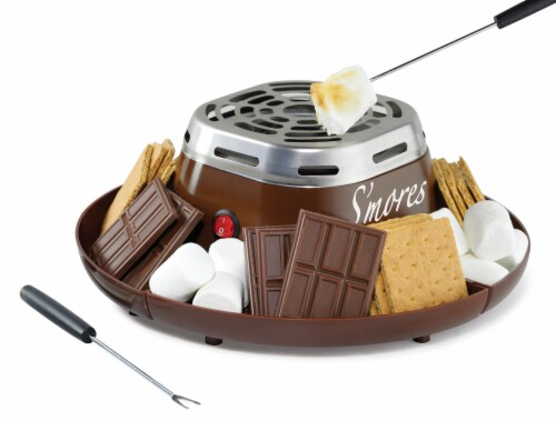 Nostalgia Electric S'mores Maker - Brown Perspective: right