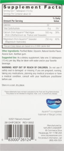 Nature's Answer Plant Based Calcium 500 mg / Magnesium 250 mg Dietary Supplement Perspective: right