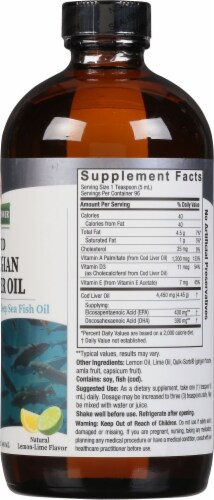 Nature's Answer Norwegian Cod Liver Oil Orange Flavored Dietary Supplement Perspective: right