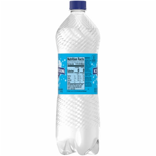 Ice Mountain Natural Sparkling Bottled Water Perspective: right