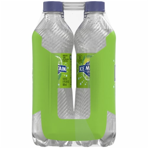 Ice Mountain Zesty Lime Sparkling Water 8 Count Perspective: right