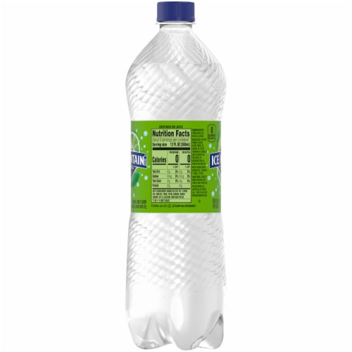 Ice Mountain Sparkling Zesty Lime Natural Spring Bottled Water Perspective: right