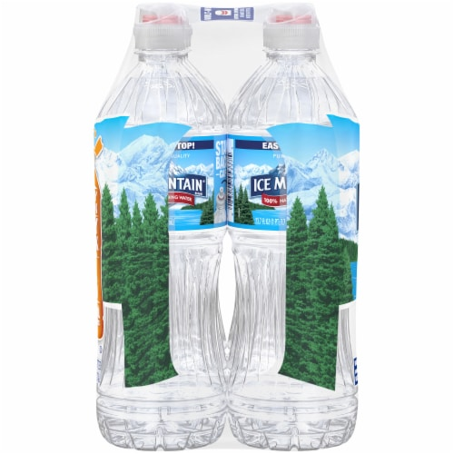 Ice Mountain Natural Spring Water 6 Count Perspective: right