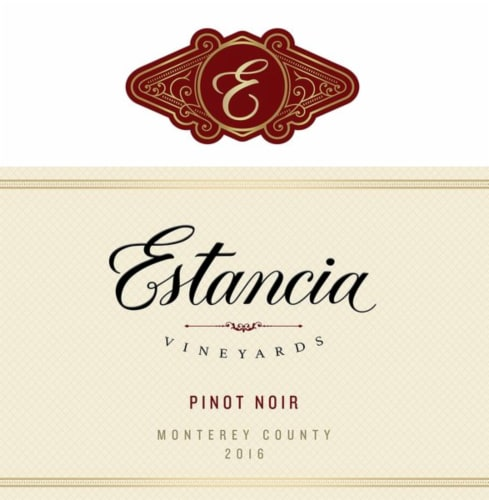 Estancia Pinot Noir Red Wine Perspective: right