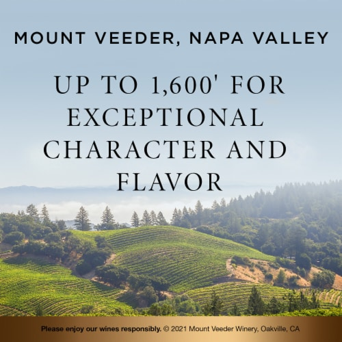 Mount Veeder Winery Cabernet Sauvignon Red Wine Perspective: right