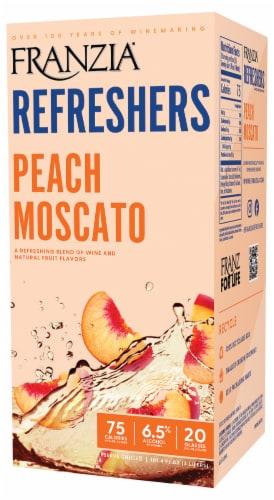 Franzia Refreshers Peach Moscato Box Rose Wine Perspective: right