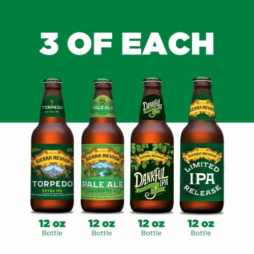 Sierra Nevada Brewing Co. The Sampler Variety Pack Perspective: right