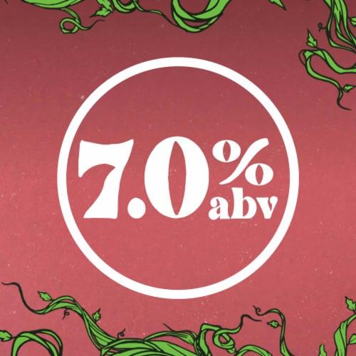 Strainge Beast Ginger Lemon & Hibiscus Hard Kombucha Perspective: right