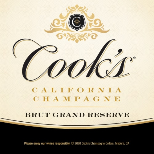 Cook's Grand Reserve Champagne Sparkling White Wine Perspective: right