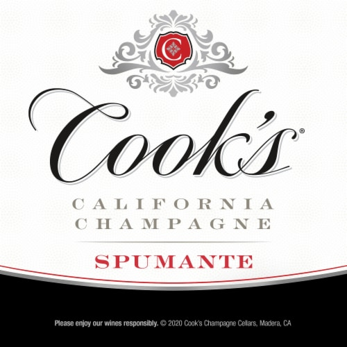 Cook's Spumante Champagne Sparkling White Wine Perspective: right