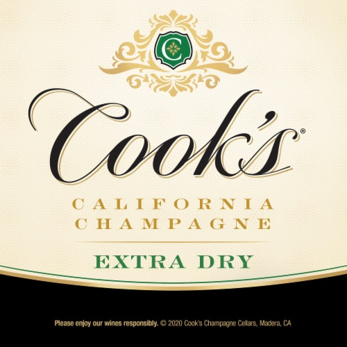 Cook's Extra Dry Sparkling California Champagne Perspective: right
