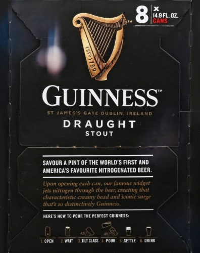 Guinness Smooth & Creamy Nitrogenated Draught Stout Perspective: right
