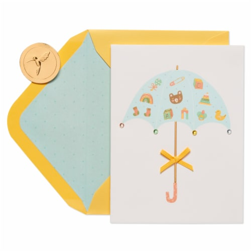 Papyrus Baby Shower Card (Umbrella) Perspective: right