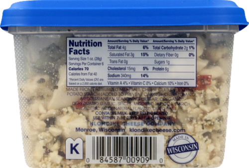 Odyssey Mediterranean Herb Crumbled Feta Cheese Perspective: right