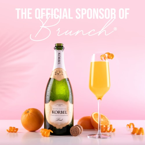 Korbel Brut California Champagne Perspective: right