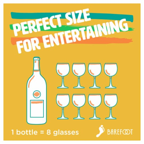Barefoot Pinot Grigio White Wine Perspective: right