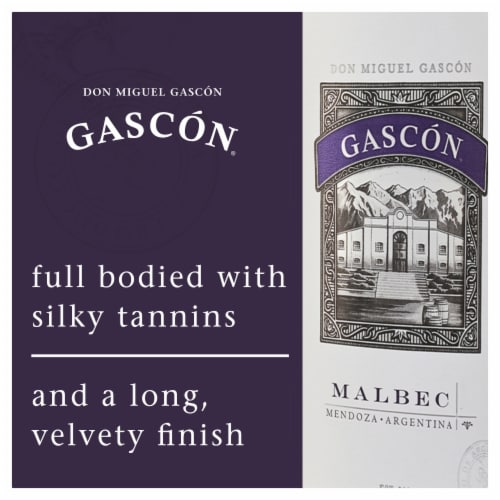 Don Miguel Gascon Argentina Malbec Red Wine Perspective: right