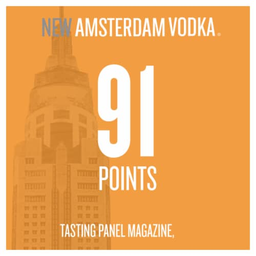 New Amsterdam Peach Flavored Vodka Perspective: right