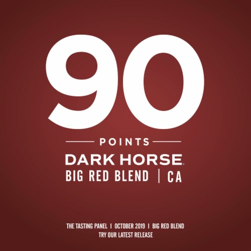 Dark Horse Big Red Blend Red Wine Perspective: right