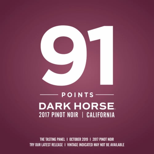 Dark Horse Pinot Noir Red Wine Perspective: right