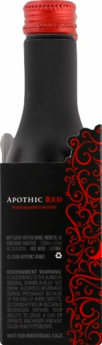 Apothic Red Blend Red Wine 2 pack of 250ml Aluminum Bottles Perspective: right