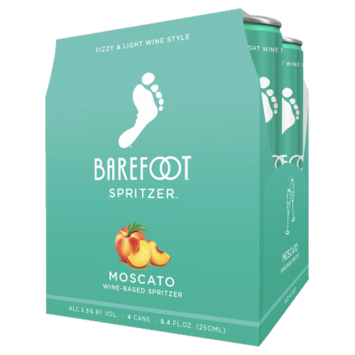 Barefoot Spritzer Moscato White Wine Perspective: right