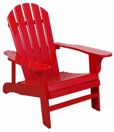 Leigh Country Classic Adirondack Chair - Red Perspective: right