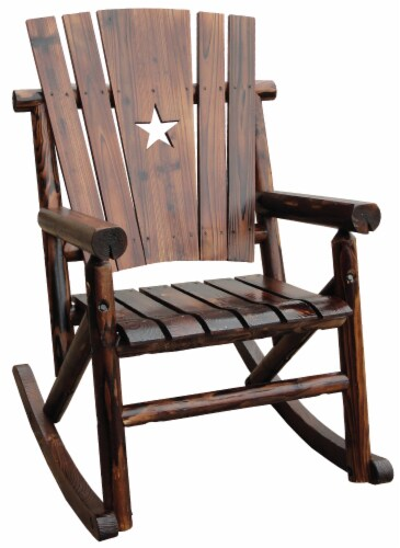 Leigh Country Char-Log Single Rocker with Star Cutout Perspective: right