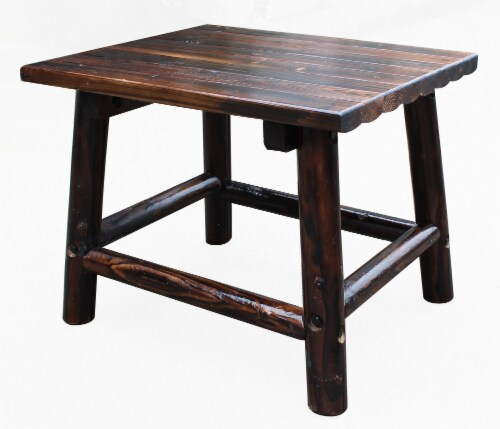 Leigh Country Char-Log Rectangular End Table - Brown Perspective: right