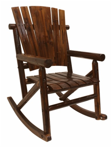Leigh Country Char-log Single Rocker - Brown Perspective: right