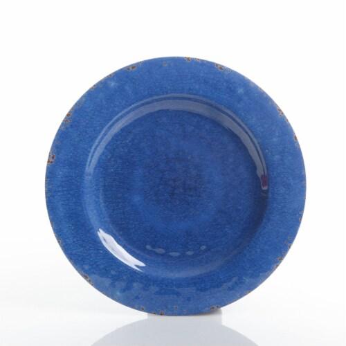 Gibson Studio California Mauna 12-Piece Durable Melamine Dinnerware Set, Blue Perspective: right