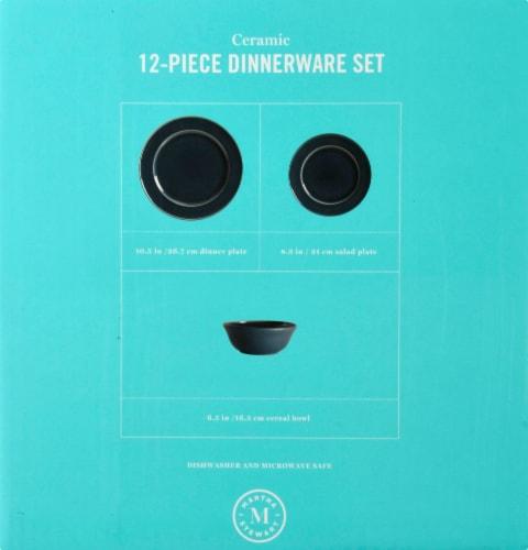 Martha Stewart Reactive Dinnerware Set - Blue Perspective: right
