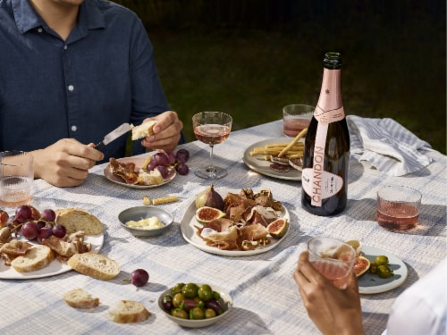 Chandon California Rose Sparkling Wine Perspective: right