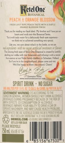Ketel One Botanical Peach & Orange Blossom Vodka Perspective: right