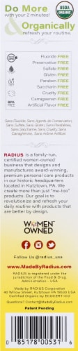 Radius Organic Coconut Banana Children's Toothpaste Perspective: right