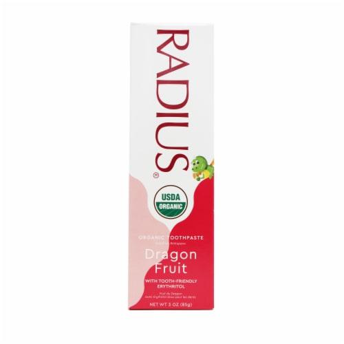 Radius® Organic Dragon Fruit Children's Gel Toothpaste Perspective: right