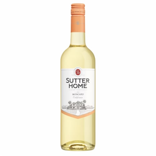 Sutter Home® Moscato White Wine 750mL Wine Bottle Perspective: right