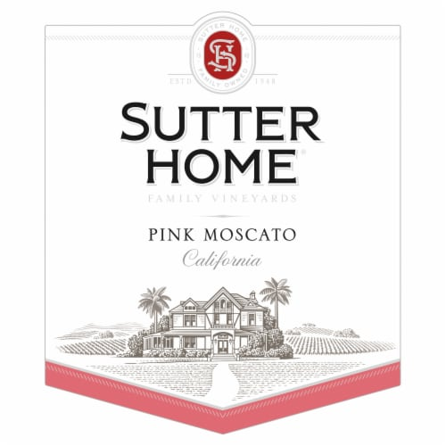 Sutter Home Pink Moscato Wine Perspective: right