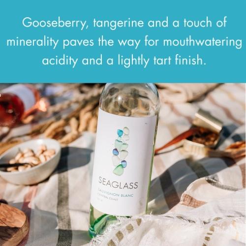 SEAGLASS Sauvignon Blanc White Wine 750mL Wine Bottle Perspective: right