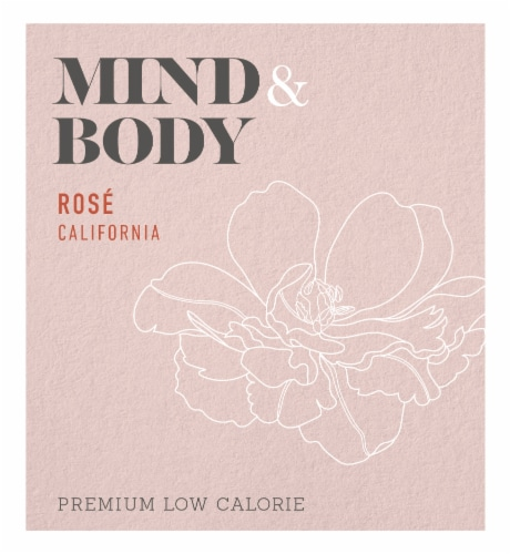 Mind & Body Low Calorie Rose Wine Perspective: right
