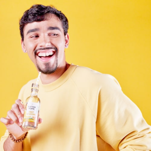 Sutter Home® Fruit Infusions Tropical Pineapple White Wine Perspective: right