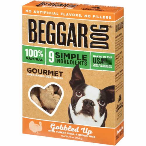 Beggar Gobbled Up Turkey & Rice Dog Treats Perspective: right