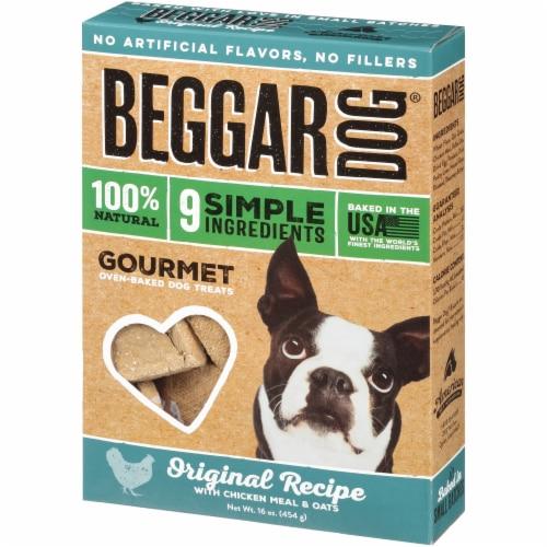 Beggar Original Recipe Chicken Meal & Oats Oven-Baked Dog Treats Perspective: right