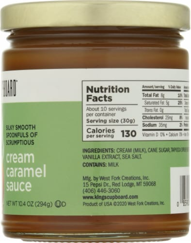 King's Cupboard Cream Caramel Sauce Perspective: right